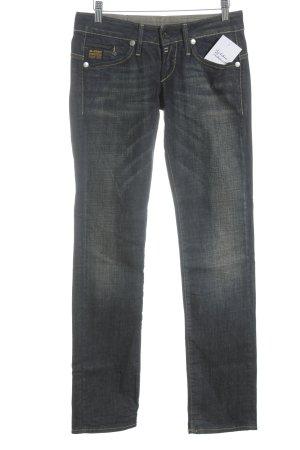 G-Star Jeans a gamba dritta blu scuro-blu Cotone