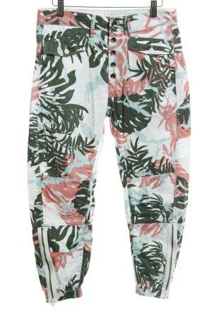 G-Star Raw Pantalon 3/4 motif floral style décontracté