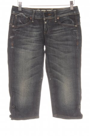 G-Star Raw Jeans 3/4 bleu foncé style déchiré