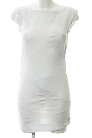 G-Star Raw Basic Top weiß-wollweiß Schriftzug gedruckt Casual-Look