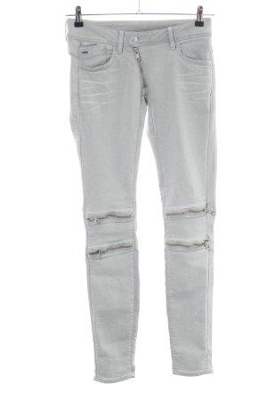 G-Star Raw Biker jeans lichtgrijs casual uitstraling