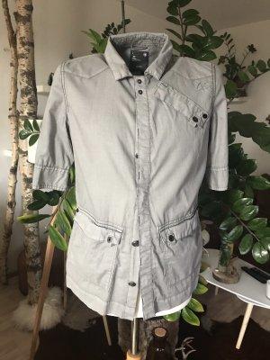 G-Star RAW  Bluse grau mit vielen Details Gr.L