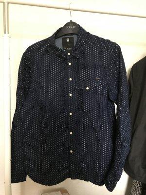 G-Star RAW Bluse mit weißen kleinen kreuzen