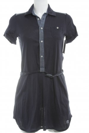 G-Star Raw Blouse Dress dark blue-cornflower blue athletic style