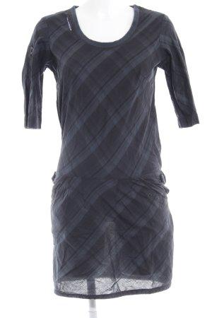 G-Star Raw Blusenkleid taupe-dunkelblau Karomuster extravaganter Stil