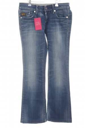 G-Star Raw Boot Cut Jeans blau-weiß Casual-Look