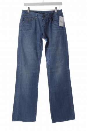 G-Star Raw Boot Cut Jeans kornblumenblau-wollweiß Webmuster Casual-Look