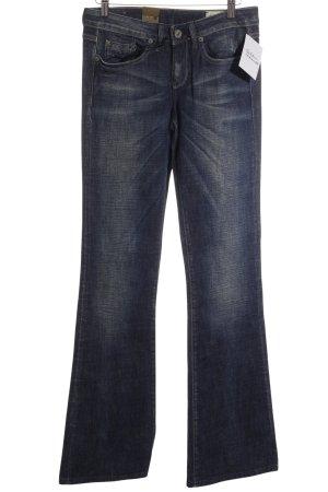 G-Star Raw Boot Cut Jeans weiß-dunkelblau meliert 70ies-Stil