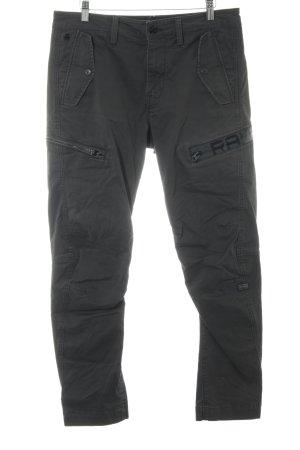 G-Star Raw Boyfriend Trousers dark grey printed lettering street-fashion look