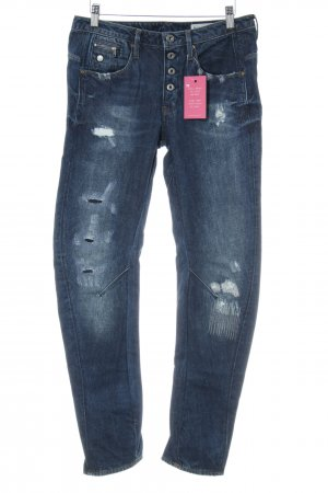 G-Star Raw Boyfriendjeans blau Used-Optik