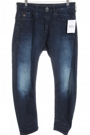 G-Star Raw Boyfriendjeans dunkelblau Used-Optik