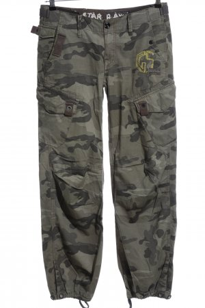 G-Star Raw Cargo Pants khaki camouflage pattern casual look