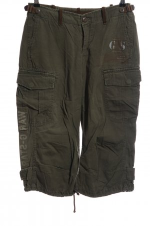 G-Star Raw Cargo Pants khaki printed lettering casual look