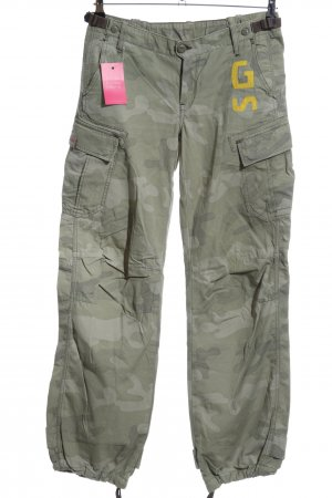 G-Star Raw Cargo Pants khaki-light grey camouflage pattern casual look