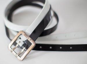 G-Star Cintura di pelle bianco-nero Pelle