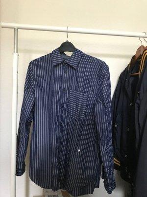 G-Star RAW Dunkelblaue Bluse mit weißen Streifen- Damen