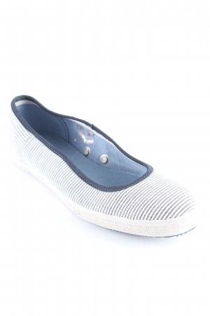 G-Star Raw faltbare Ballerinas weiß-dunkelblau Streifenmuster schlichter Stil