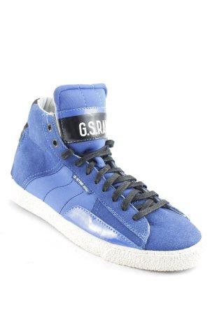 G-Star Raw Footwear Schnürschuhe blau-schwarz Casual-Look