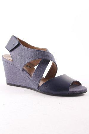 G-Star Raw Footwear Sandalo a zeppa blu-blu scuro stile casual