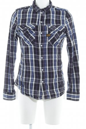 G-Star Raw Hemd-Bluse Glencheckmuster Country-Look