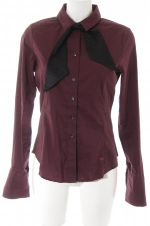 G-Star Raw Hemd-Bluse schwarz-brombeerrot Business-Look