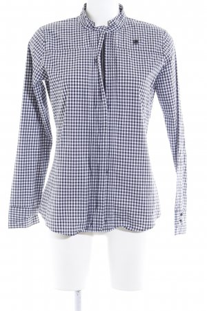 G-Star Raw Hemd-Bluse schwarz-weiß Karomuster Casual-Look