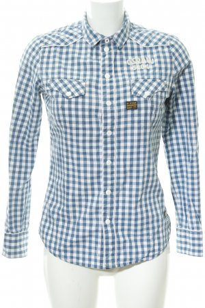 G-Star Raw Hemd-Bluse weiß-himmelblau