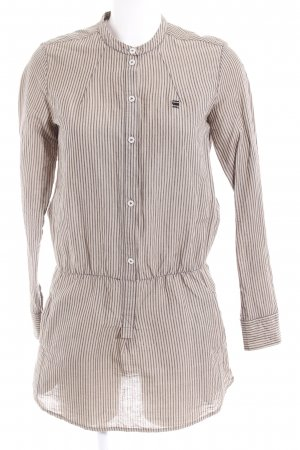 G-Star Raw Shirtwaist dress beige-grey brown striped pattern casual look