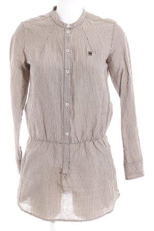 G-Star Raw Hemdblusenkleid beige-graubraun Streifenmuster Casual-Look