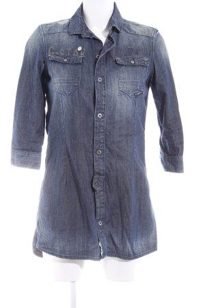 G-Star Raw Hemdblusenkleid blau-graublau Casual-Look