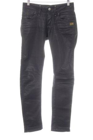 G-Star Raw Pantalon taille basse noir style décontracté