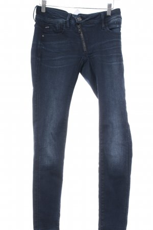G-Star Raw Low Rise jeans donkerblauw-wit kleurverloop casual uitstraling