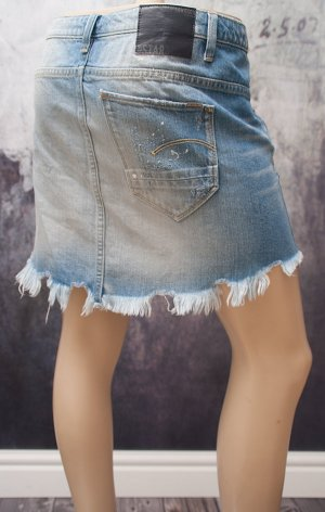 G-STAR RAW ~ JEANS ROCK ARC RIPPED MINI SKIRT ~ SIZE 26
