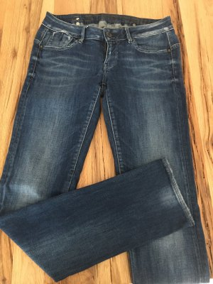 G-Star Raw Jeans met rechte pijpen blauw