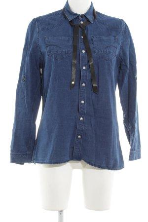 G-Star Raw Camicia denim blu acciaio stile casual