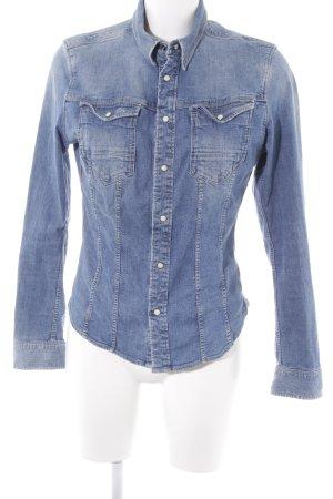 G-Star Raw Denim Shirt steel blue washed look