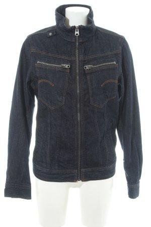 G-Star Raw Jeansjacke dunkelblau schlichter Stil