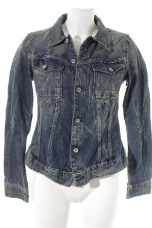 G-Star Raw Giacca denim blu acciaio stile jeans
