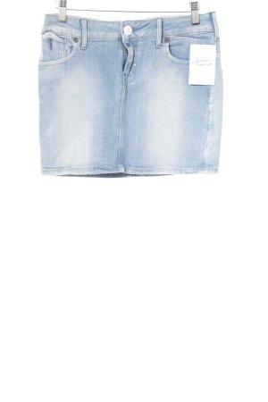 G-Star Raw Spijkerrok lichtblauw gewassen uitstraling