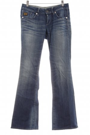 G-Star Raw Jeansschlaghose blau-creme Washed-Optik