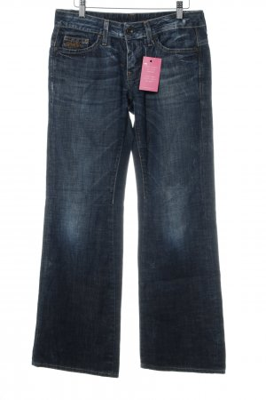 G-Star Raw Jeans a zampa d'elefante blu acciaio-blu scuro stile casual