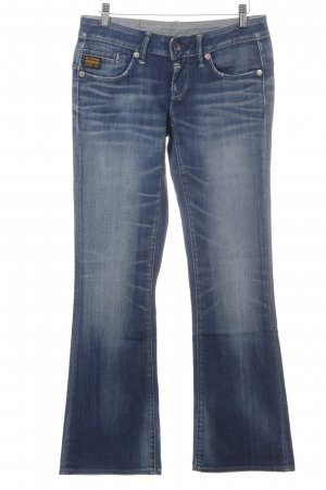G-Star Raw Denim Flares steel blue-cornflower blue casual look