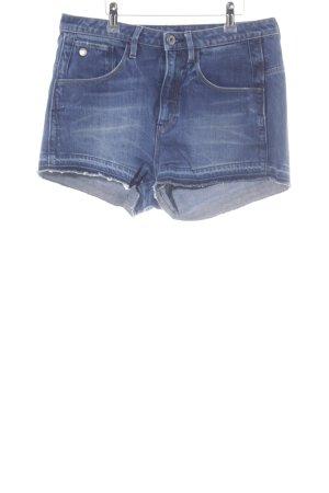 G-Star Raw Pantalón corto de tela vaquera azul oscuro-azul pálido look casual