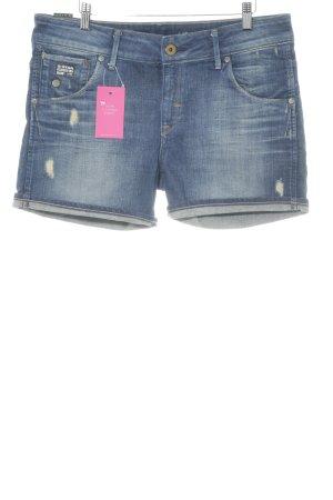 G-Star Raw Pantalón corto de tela vaquera azul acero look casual