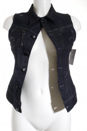 G-Star Raw Spijkervest donkerblauw casual uitstraling