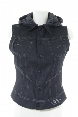 G-Star Raw Denim Vest dark blue athletic style