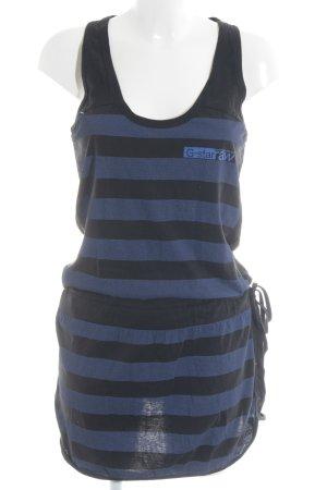 G-Star Raw Jerseykleid schwarz-stahlblau Streifenmuster schlichter Stil