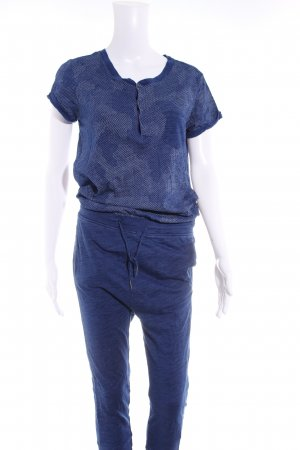 G-Star Raw Jumpsuit blau-weiß meliert Casual-Look