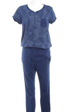 G-Star Raw Jumpsuit dunkelblau-weiß meliert Casual-Look