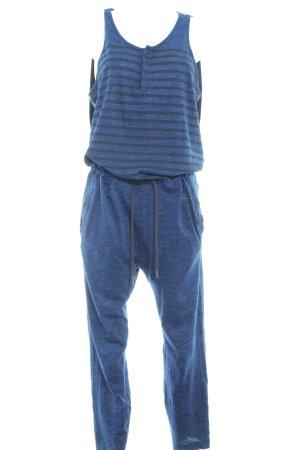 G-Star Raw Jumpsuit stahlblau-schwarz Streifenmuster Casual-Look